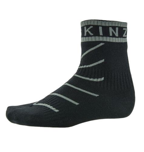 Black Hydrostop Socks Grey SealSkinz Super Thin Pro Ankle
