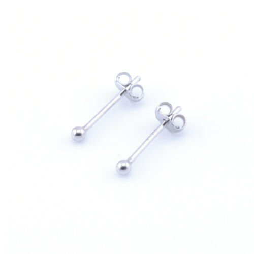 Unisex 925 Sterlingsilber Kugel Ohrstecker Obere Ohr Ohrringe 2-6mm