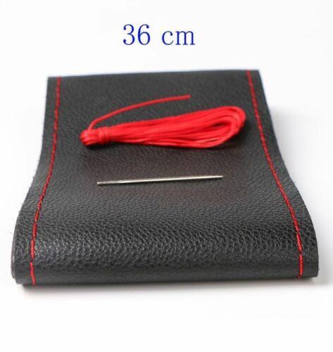 Car Steering Wheel Cover 36cm 38cm 40cm Diameter Braid Leather Shroud Handle Bar
