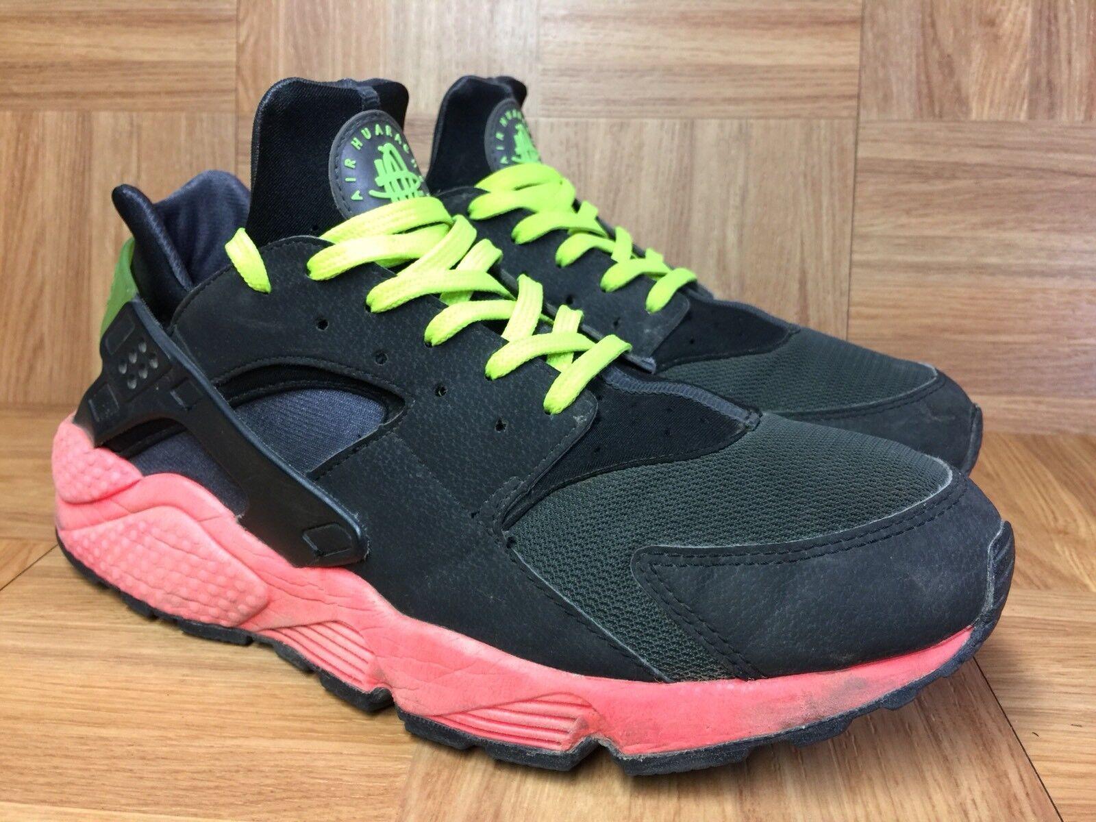 VTG  Nike Air Huarache Anthracite Hyperpunch S 12 318429-006 Men's Running Shoe