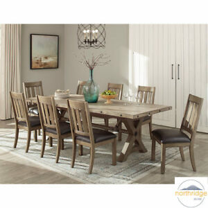Image Is Loading Northridge Home Booker Contemporary Wooden Extending Dining Room