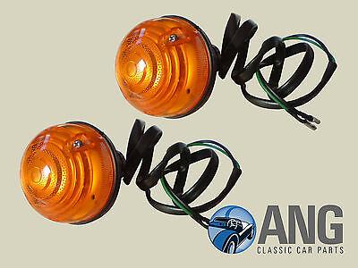 ROVER MINI 1986-96 FRONT INDICATOR,AMBER FLASHER LAMP UNITS x 2 AFU3389