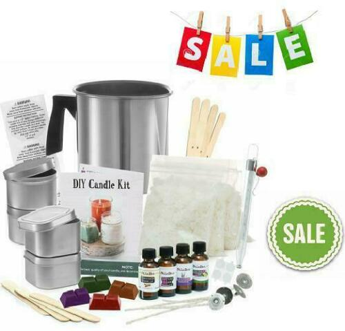 Complete Diy Candle Making Kit Supplies Create Large Scented Soy Candles