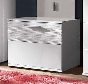 Details zu Sitzbank Schuhbank Garderobenbank weiß Hochglanz Bank 60 cm Flur  Diele Möbel Ice