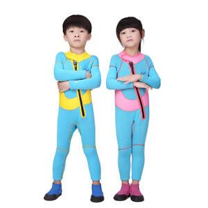 Kids Spring Suit Wetsuit Long Sleeve 2.5mm Children Diving Training ... a65e48b5b