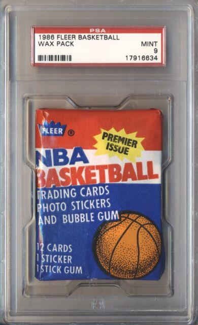 1986 87 FLEER BASKETBALL SEALED WAX PACK PSA 9 MINT JORDAN? BARKLEY? DESCRIPTION