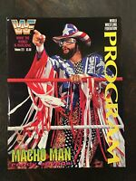 WWE WWF Program Vol. 221 Wrestling Magazine Macho Man Randy Savage RIP WCW