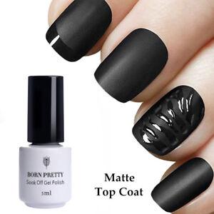 BORN-PRETTY-Matt-TOP-COAT-Uberlack-5ml-NO-Wipe-Soak-off-Nail-Polish-UV-Gel