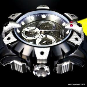 Invicta Reserve Venom Viper Swiss Chronograph 52mm Black Silver Tone Watch New