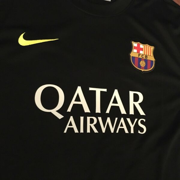 3a30e4b03 Hover to zoom · 2013 14 Barcelona Third Jersey  10 Messi XL NIKE Football  Soccer ARGENTINA NEW