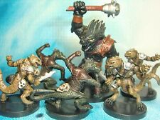 Dungeons & Dragons Miniatures Lot  Troglodyte Barbarian Lair Encounters !!  s112