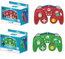 Mario and Luigi Gamecube Classic Controller Gamepad for Wii U Super Smash Bros