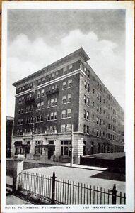 Image Is Loading 1930s Postcard Hotel Petersburg Virginia Va
