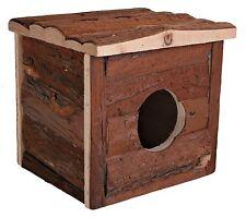 Jerrik Hamster House Natural Wood Hide-Away Hut for Gerbils Mice Hamsters