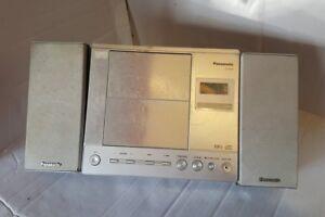 bookshelf cd am p item model sharper remote silver with shelf fm image system tuner digital stereo player s
