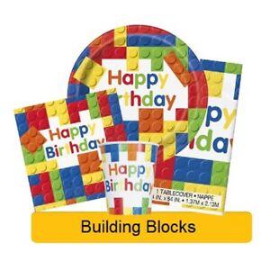 Building Blocks Birthday Party Range Lego Tableware Decorations Unique 1c Ebay