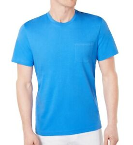 Club-Room-Mens-T-Shirt-Palace-Blue-Size-2XL-Pocket-Crewneck-Tee-Solid-22-387