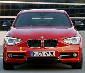 Pair-of-genuine-BMW-serie-1-F20-F21-Parrilla-de-Luz-Antiniebla-Parachoques-delantero-izquierda