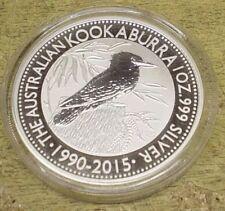 2015 AUSTRALIA 1 DOLLAR 1oz 0.999 SILVER BULLION COIN KOOKABURRA UNC