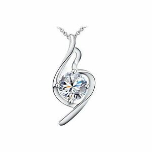 Beautiful-Women-039-s-Necklace-Clear-Crystal-Stones-Bridal-Clef-Design-BG1519