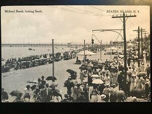 Vintage-Postcard-gt-1907-1915-gt-Midland-Beach-gt-Looking-South-gt-Staten-Island-gt-N-Y