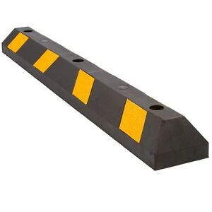 Rubber Parking Block Curb 48in Lot Drive Way Tire Wheel