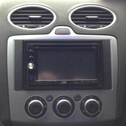Ford Focus C-Max 2004-11 Car Stereo Double Din Fascia Panel Dark GREY DFP-07-09A