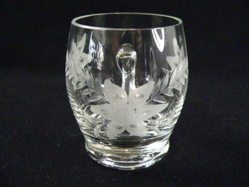 Damenseidel Bierseidel Bierkrug aus Kristall m Blumenschliff 0,25 l