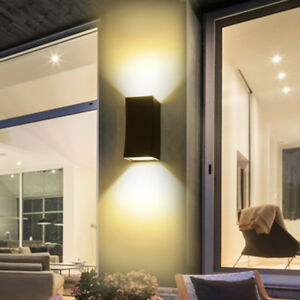 Details About Up Down 10w 20w Led Cob Wall Mount Light Fixture Gl Outdoor Lamp Balcony Gate