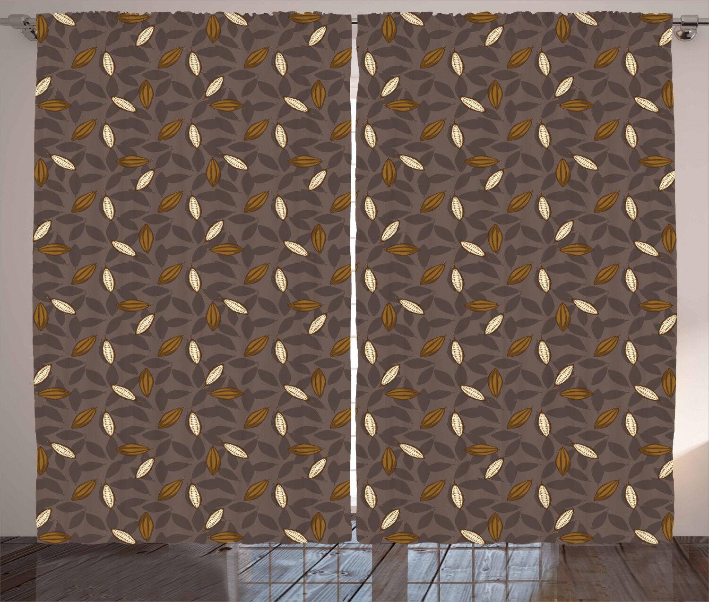 Cocoa Curtains Curtains Curtains 2 Panel Set Decor 5 Größes Available Window Drapes 70c0b7