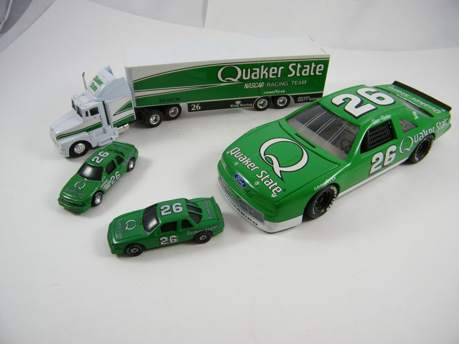 BRETT BODINE  QUAKER STATE RACING  TRANSPORTER AND CARS