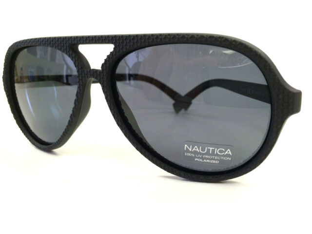 2e55d27c1d8 Polarized Sunglasses Nautica Sun N3572SP Aviator Grey Lens Black Frame 58  Eye for sale online