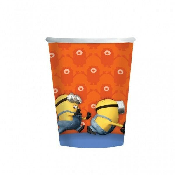 Despicable Me Minions Party Supplies Cups 8 Pack Birthday Tableware