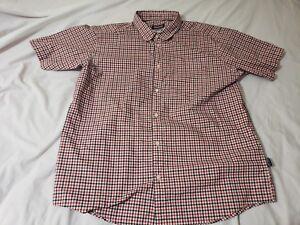 Patagonia-Men-039-s-Shirt-Organic-Cotton-Short-Sleeve-Plaid-Button-Down-Large