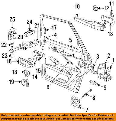 3A0839206A Door Handle New Black Rear Right FOR Volkswagen VW Passat 1994-1997