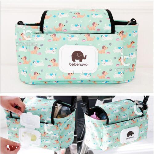 Pushchair Organizer Baby Carriage Pram Stroller Accessories Storage Hanging Bag
