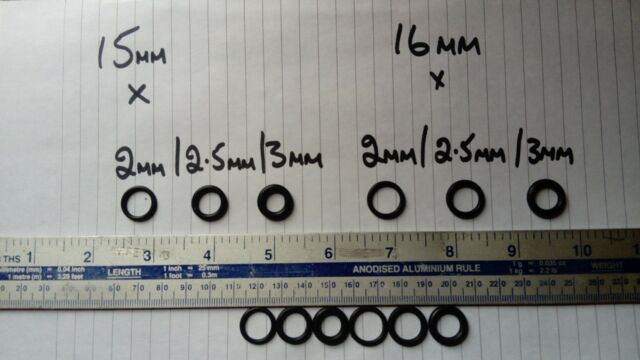 20 Pcs Black Silicone O Ring Seal Washers 90mm x 84mm x 3mm