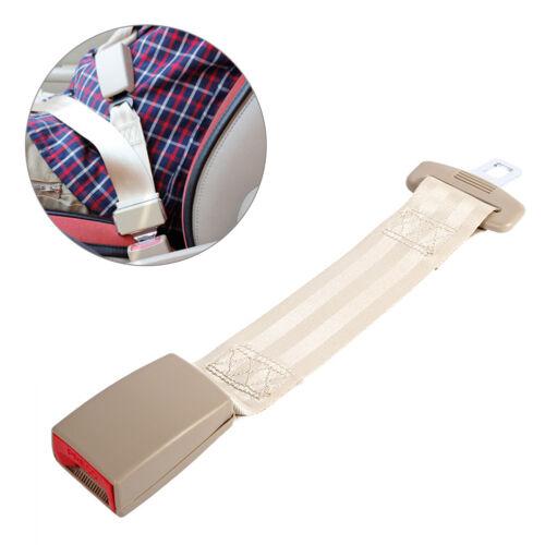 """13.98/"""" Car Seat Seatbelt Adjustable Safety Belt Extender Extension Buckle Beige"""