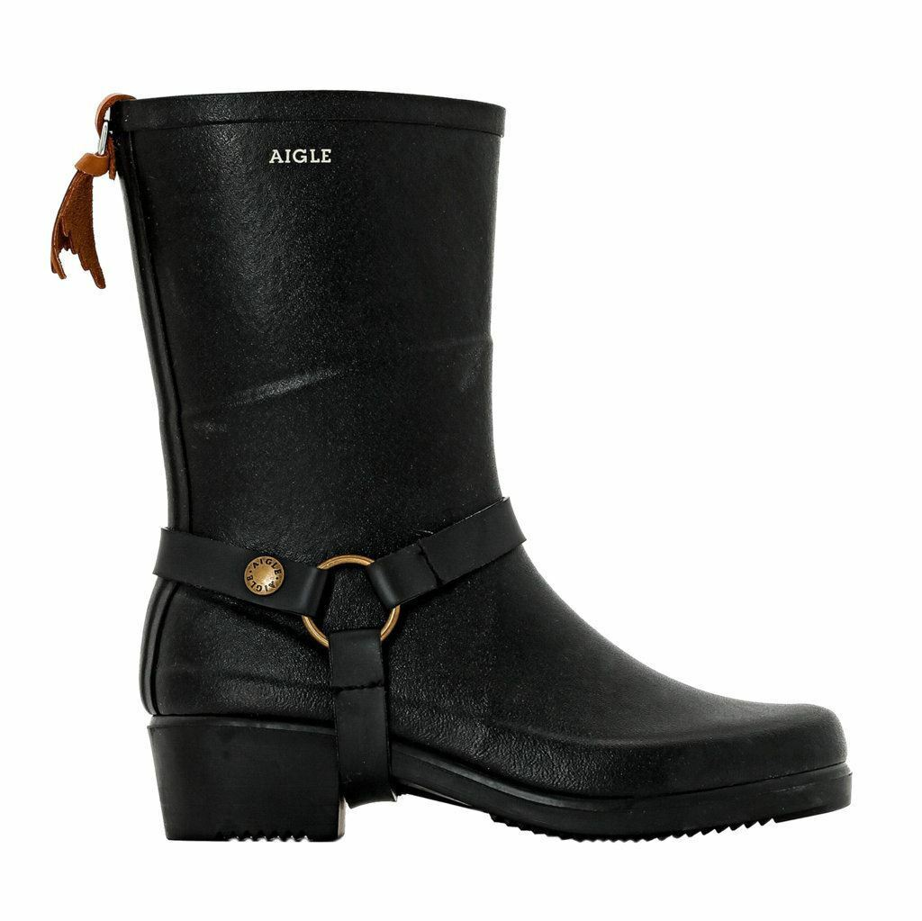 Grandes zapatos con descuento Aigle Miss Julie Black Womens Boots