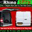 LWB Ford Transit Connect Roof Rack Bars 3 Bar Rhino KammBar Lockable 2014-2019