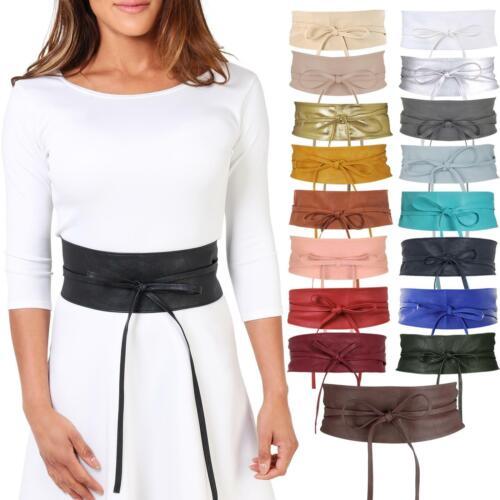 Womens Ladies Waistband Waist Belt Wide Leather Band KRISP Fashion Corset Obi