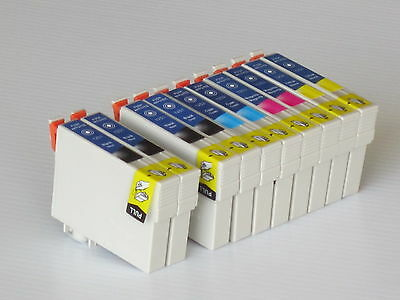 10pk inks for T125 T1251-4 fits Epson 320/520/NX125/NX625 2 Set+ 2 extra black