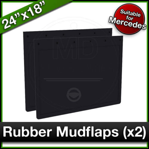 MERCEDES 24 x 18 (610 x 460mm) Truck Lorry RUBBER MUDFLAPS Mud Flap Guard PAIR