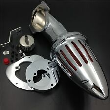 Bullet Air Cleaner Intake Filter Kit For 86-12  Honda Vtx1300 Vtx 1300 Chrome