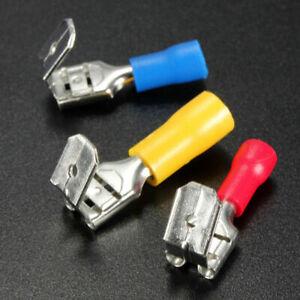 100Pcs-Red-amp-Blue-amp-Yellow-Piggyback-Insulated-Spade-Crimp-Terminal-Connectors-Kit