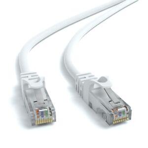 0,5m CAT 6 Patchkabel Netzwerkkabel Ethernetkabel DSL LAN Kabel 50cm - WEIß