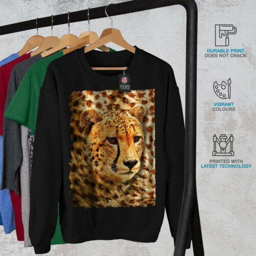 Black Natura New da Felpa Cheetah uomo animale 7YR0xxEq