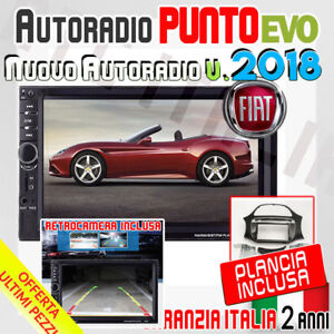 AUTORADIO-Touch-Retrocamera-2-Din-7-034-FIAT-PUNTO-EVO-gt-2009-MP3-SD-BLUETOOTH-A