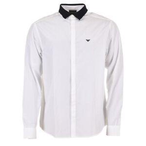 EMPORIO-ARMANI-Shirt-White-Cotton-Size-XL-RRP-140-MA-139