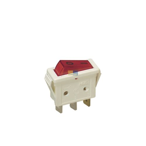 Interrupteur bascule Interrupteur on/off 1 broches rouge petits appareils/machine à café